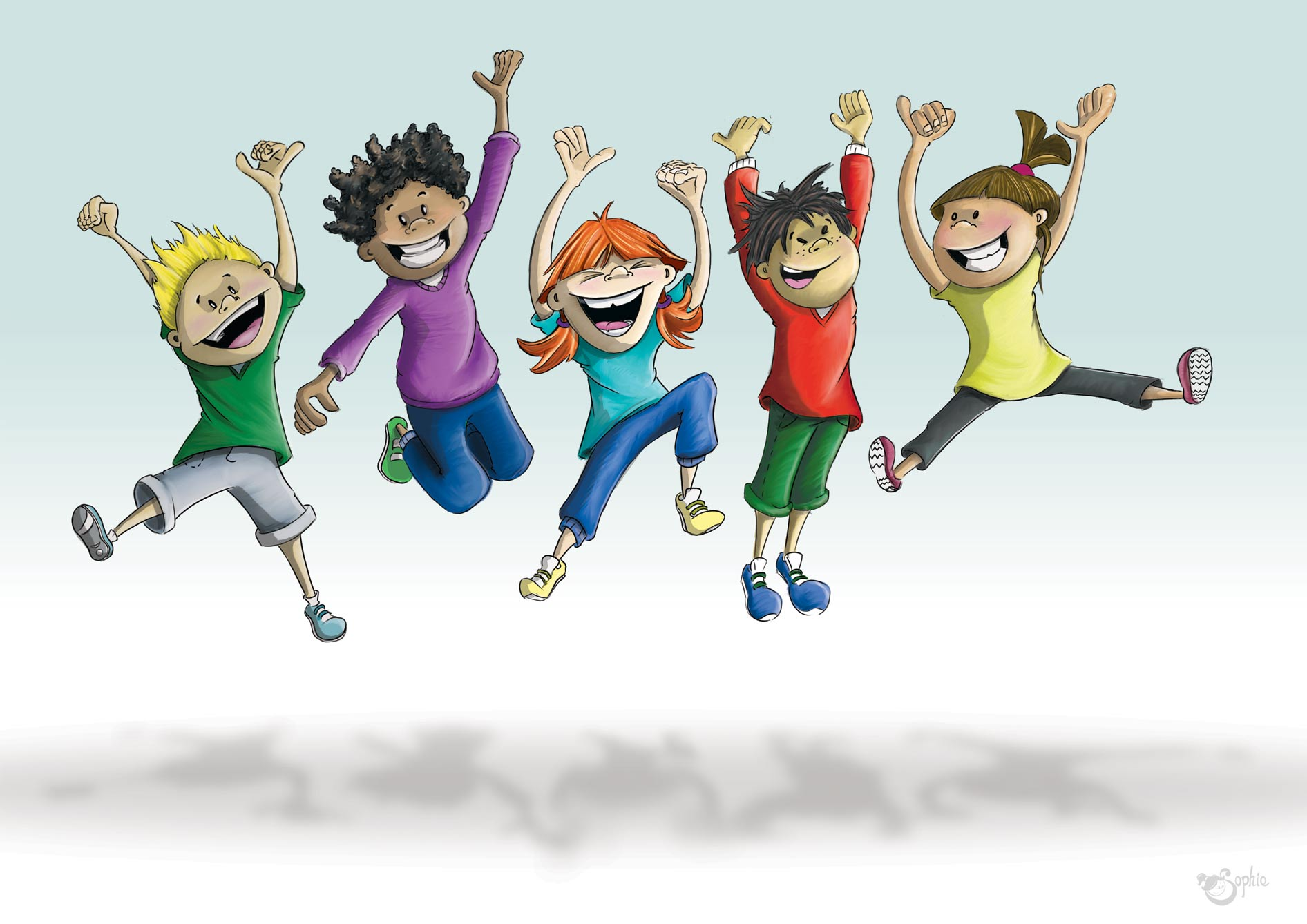 Active Kids Clip Art