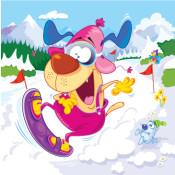 snowboard_dog