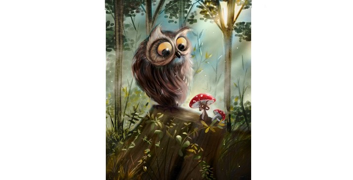 Sophie-Mitchell-cartoon-publishing-animals-Owl-Mouse