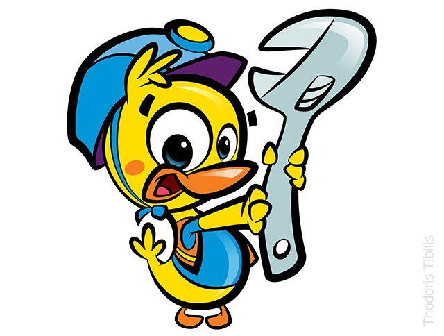 The illustrators agency professional illustrators cartoonists 3d categories thodoris tibilistags diy duck fun mascot simple spanner tools website solutioingenieria Choice Image